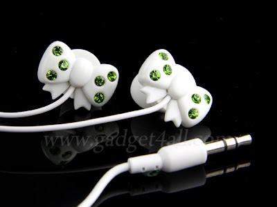 Two Lovely Earphone - Bling Bling Bow and Bling Bling Bear