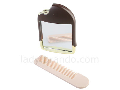 Popsicle comb and mirror set