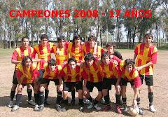 CAMPEONES 2008 CATEGORIA 17