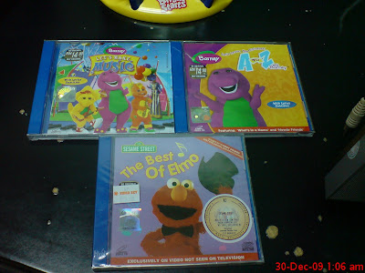 Happy Twin New Barney Amp Elmo Vcd And Mega Bloks Toys
