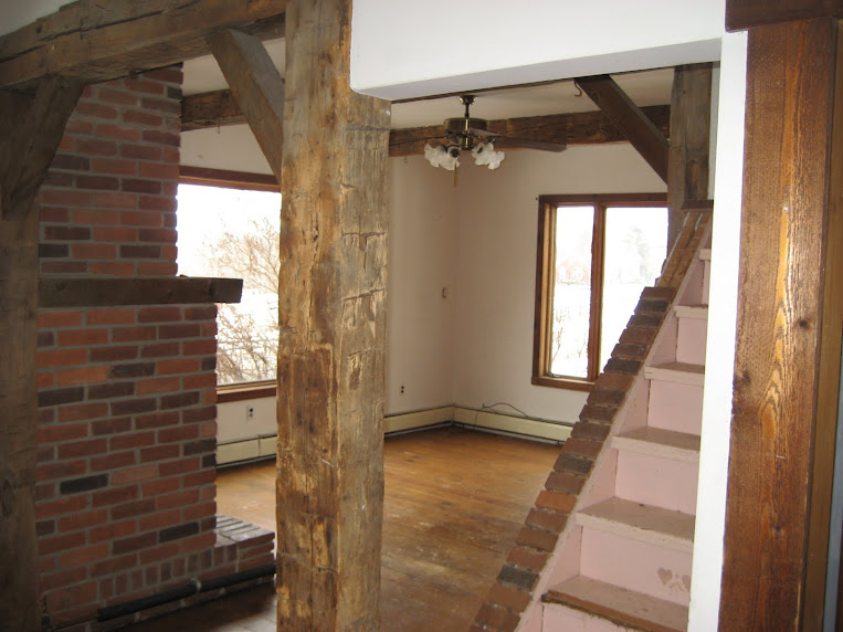 The living room and beams