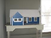 Folk art farm doll house