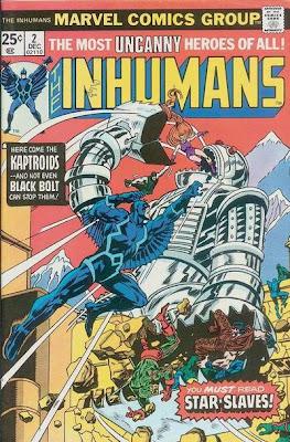 Inhumans #2, George Perez, the Kaptroids