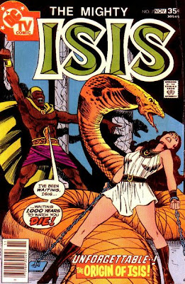 Mighty Isis #7, Serpenotep. A beautiful half-naked woman chained to a giant snake? I think I might be spotting an attempt to firm-up flagging sales