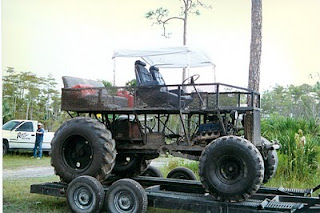 """This is the buggy up on the trailer the first time we took it out to """"Bad Luck."""" Everyone who had buggies, trucks and ATVs liked to go there to play in ..."""