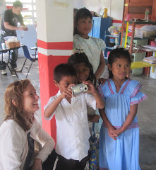 Carolyn sharing with the children..