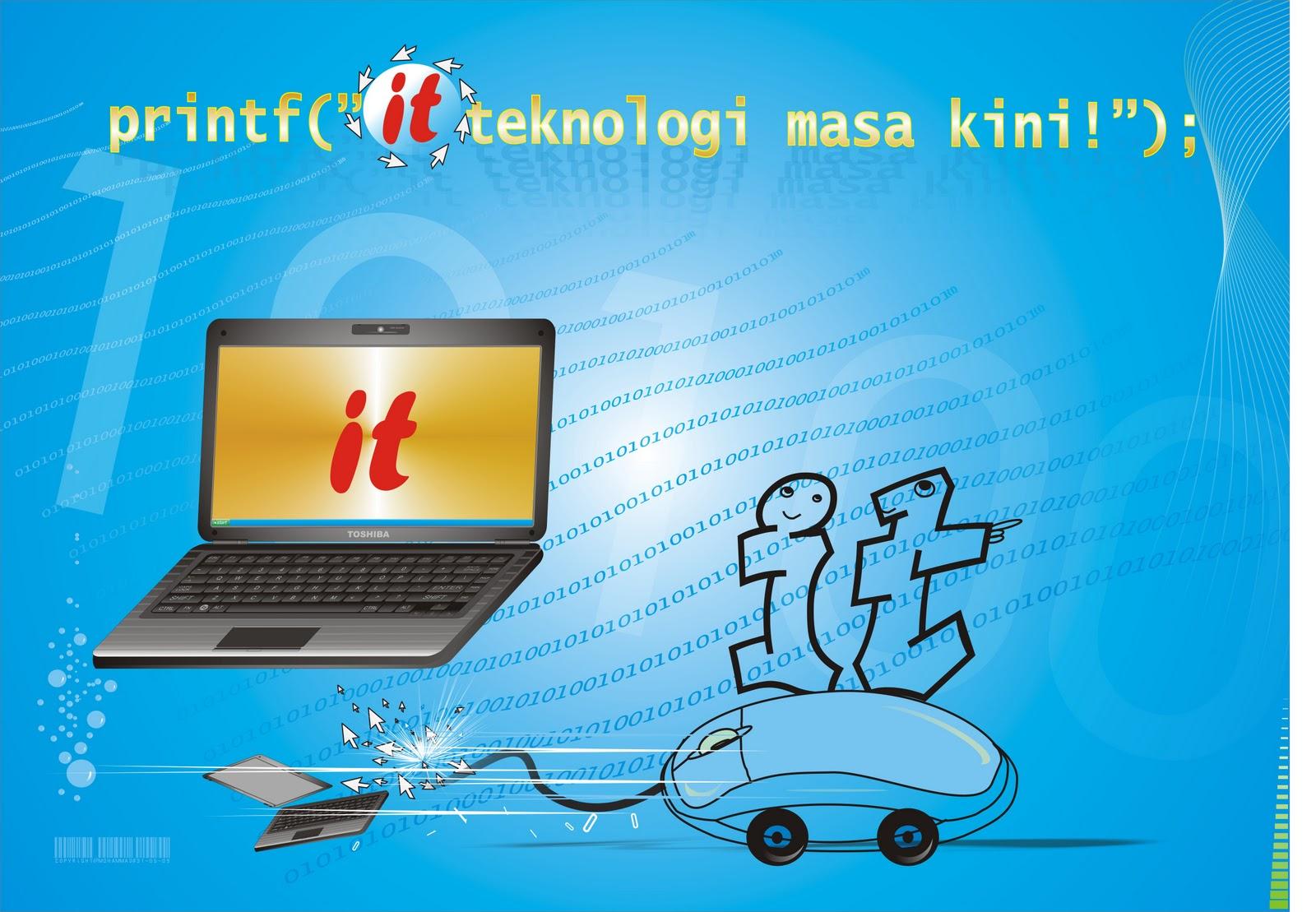 Desain Poster dengan tema Teknologi Informasi