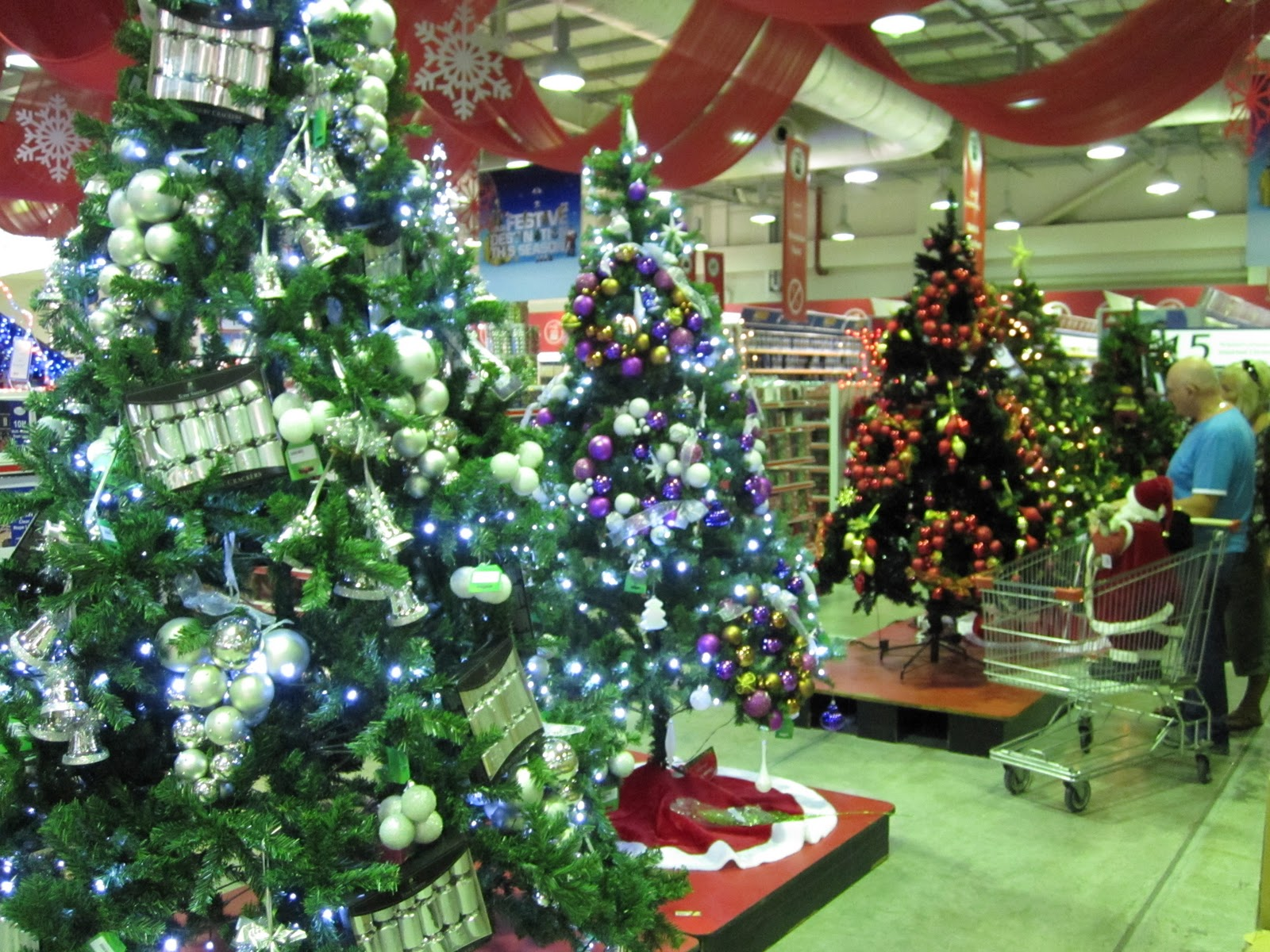 these were at the ace hardware notice how they hung the wreaths on the tree
