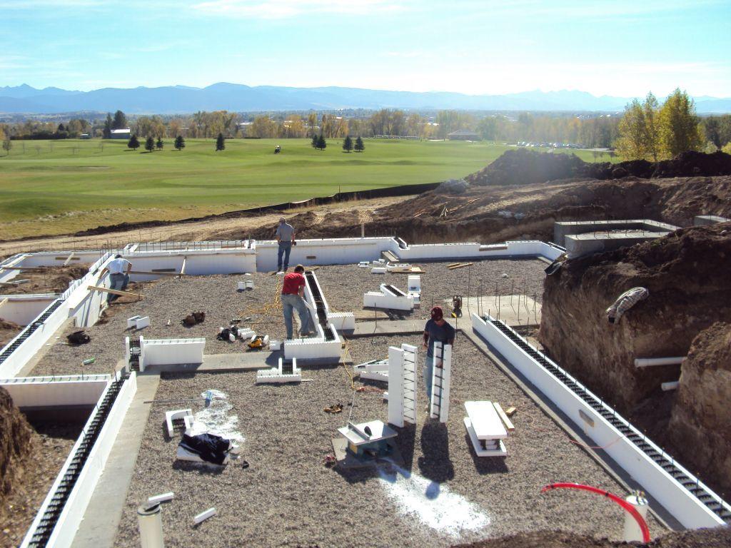Rehau montana ecosmart house blog insulated concrete form for Insulated concrete