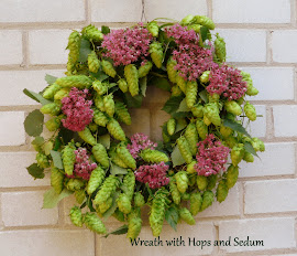 Wreath with hops and sedum - Kranz