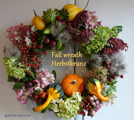 Fall wreath with gourds - Kranz mit Zierkürbis