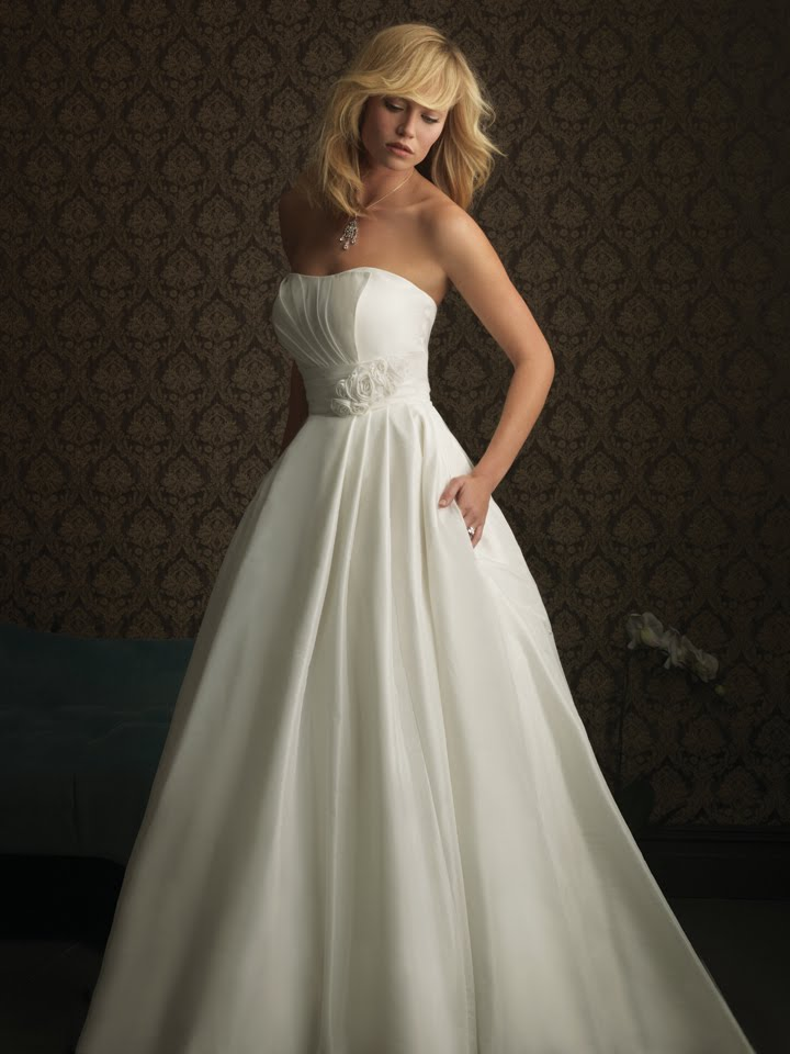 allure bridals white bridal gown with pockets unique event design