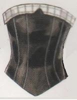 Este corset usted puede hacerlo si aprende las técnicas del trazo del corset. Usted puede hacerlo..