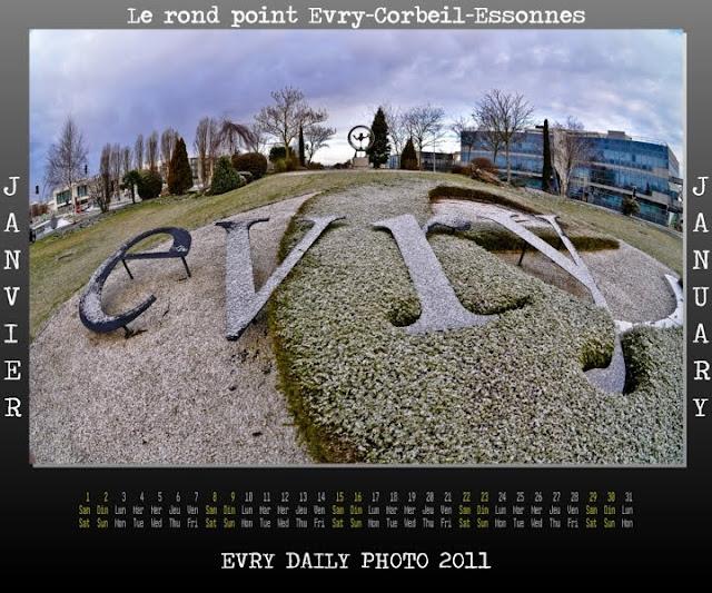 Evry Daily Photo - calendrier Evry 2011 - Calendar Evry 2011 - Janvier 2011