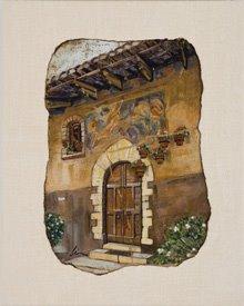 fresco transfer on linen