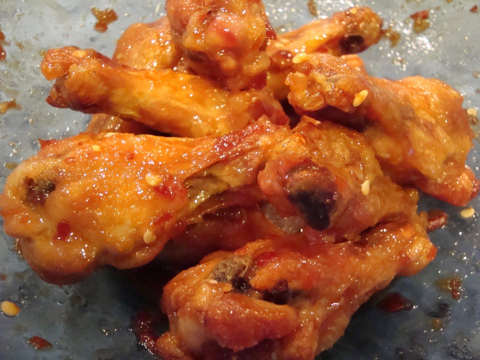 Spicy Chili Garlic and Sticky Brown Sugar Chicken Wings | Kitchen ...