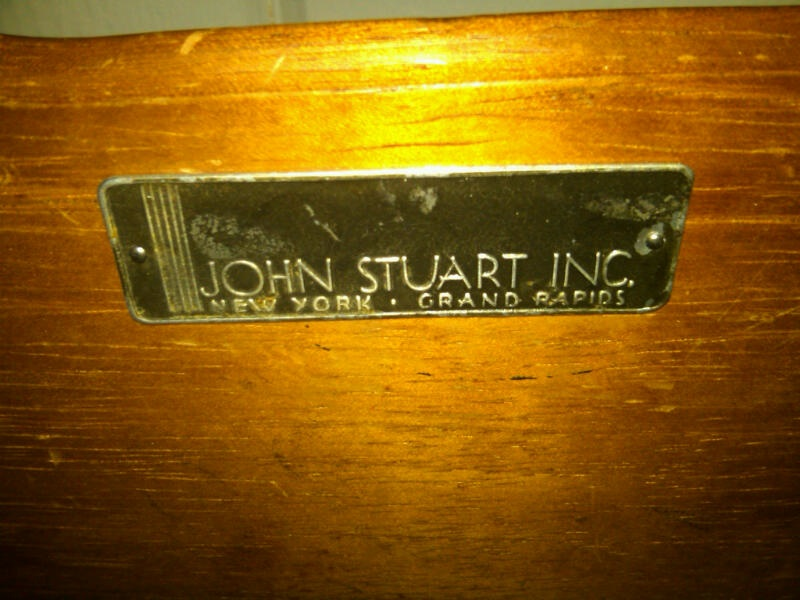 Delicieux A Brass Badge That Is Screwed Into The Side Of One Of The Drawers, Marked John  Stuart Inc. New York . Grand Rapids