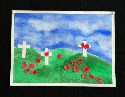That artist woman remembrance day painting art project - Remembrance day craft ideas ...