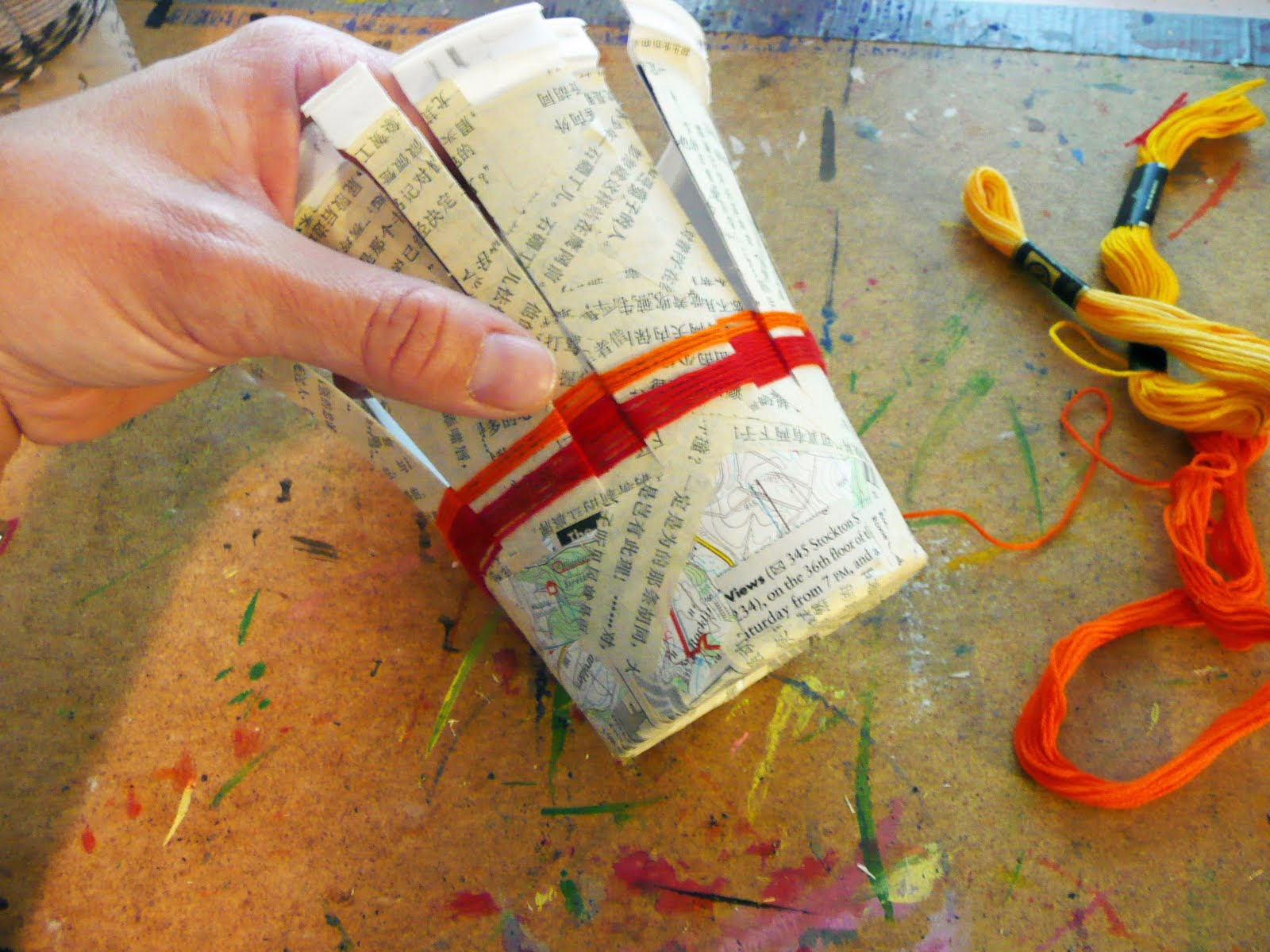 Basket Weaving For Elementary Students : That artist woman basket weaving using recycled containers