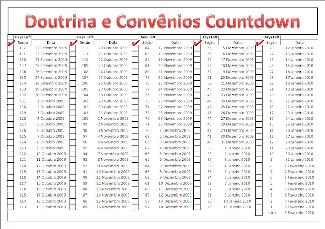 Doctine and Covenants Countdown