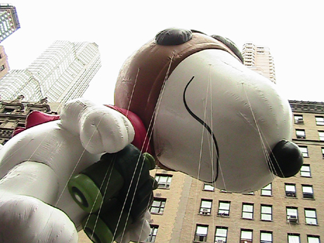Macy's Thanksgiving Day Parade Snoopy Float