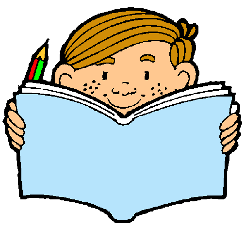 Dibujo para colorear niño leyendo - Imagui