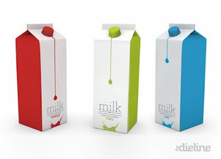 milk packaging color codes