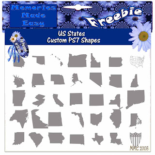 United States Custom PS7 Shapes (Memories Made Easy) USStates_Shape_PREVIEW