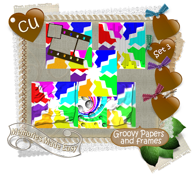 Groovy Baby {Part 1 thru 6} (Memories Made Easy) MME_GroovyPapersFrames_Preview