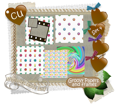 Groovy Baby {Part 1 thru 6} (Memories Made Easy) MME_GroovyPapersFrramesSet4_Preview