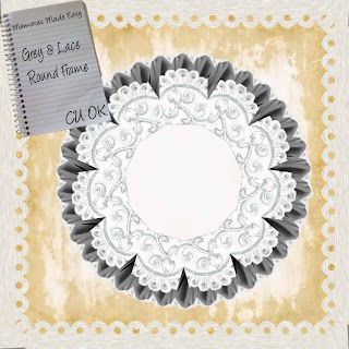 Round Grey Lace Frame - Oct 2010 GreyLaceRoundFrame-PREVIEW