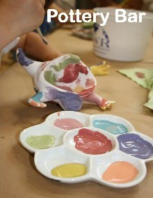 Paint your own pottery at Patch Multi-Crafts!