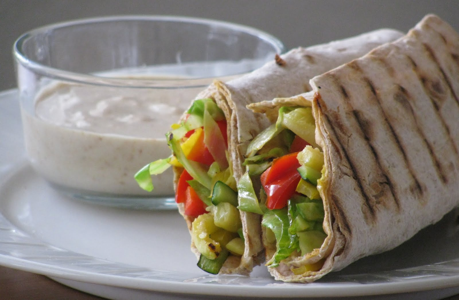 ... House of Veggies: Crispy Vegetable Lavash Wraps with Spicy Hummus dip