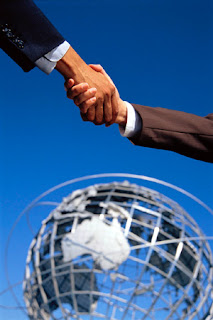 outsourcing men shaking hands
