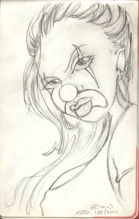 Mexican Chola Clown  Mexican Drawings Chola
