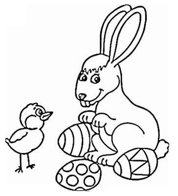coelho para colorir. para colorir de coelho.