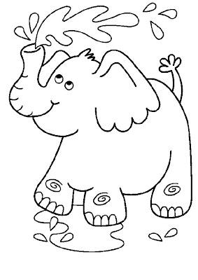 print desenhos desenho de elefante animado para colorir desenhos