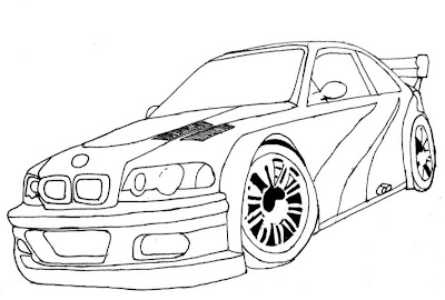 Desenho De Carro Esporte Para Colorir  Desenho De Bmw Need For Speed
