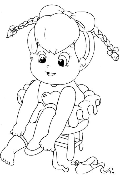 Extremamente PZ C: desenho menina SJ28