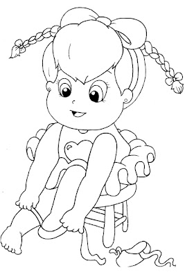 bailarina+colocando+sapatilha+para+colorir Desenho de bailarina para imprimir e colorir para crianças