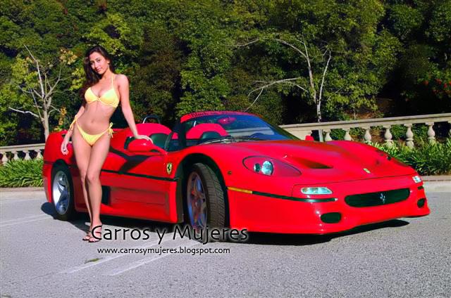 Chicas Sexys Carros Y Mujeres Rubias Posando Para