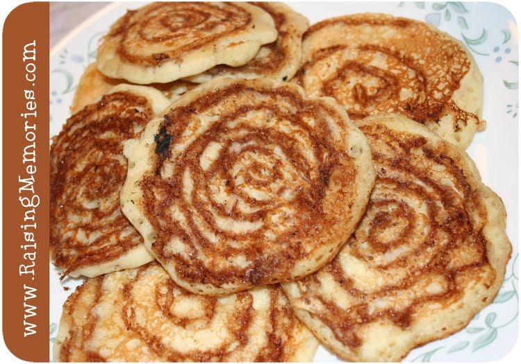 Raising Memories: Cinnamon Swirl Pancakes