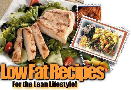 Low fat recipes to lower cholesterol