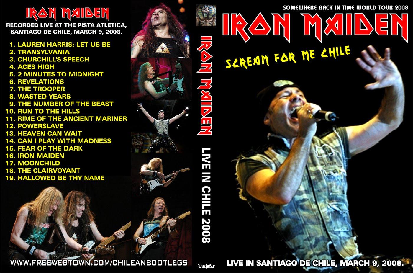 DVD Cover Bootleg Iron Maiden Chile 2008