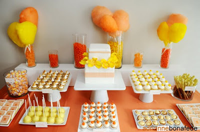 Orange and Yellow Dessert Bar