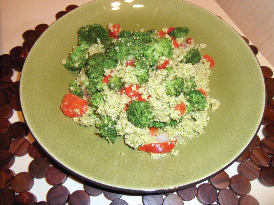 Veggiegirl Health Counseling: Double Broccoli Quinoa