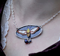 Snowberry Clearwing Moth Pendant