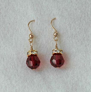 pretty valentine earrings from Koryn
