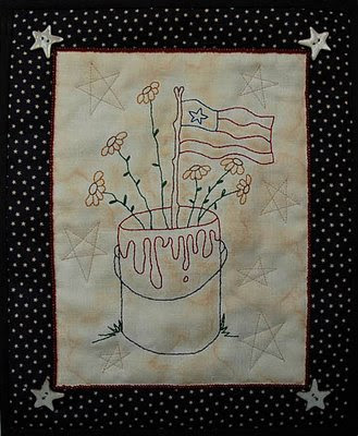 patriotic mini-quilt/stitchery