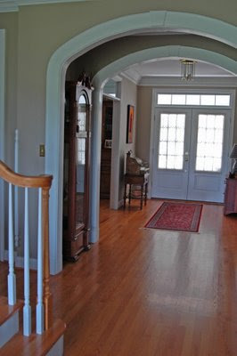 view of the front hallway